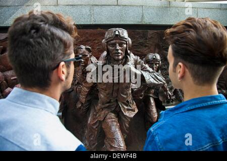 The Battle of Britain Memorial  Westminster  London  England  United Kingdom  UK  Europe. - Stock Photo