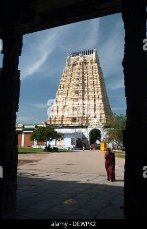 The Sri Ekambaranathar Temples ,represents the Prithvi Earth Linga,Shiva,Saivite kanchipuram kancheepuram Tamil - Stock Photo