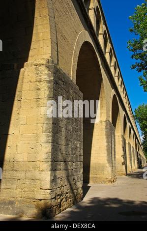 Saint-Clement aqueduct, Montpellier, Herault, Languedoc-Roussillon, France - Stock Photo