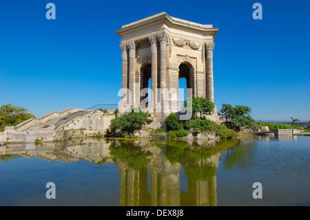 Water tower, Promenade du Peyrou, Montpellier, Herault, Languedoc-Roussillon, France - Stock Photo