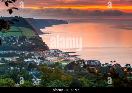 Sidmouth, Devon, England, UK, Europe. - Stock Photo
