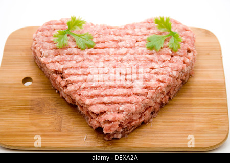 Mince in heart form - Stock Photo