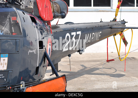 alouette 3 III  army EADS Eurocopter airbus helicopters, Open day ' family day '  at the production site at Marignane, - Stock Photo