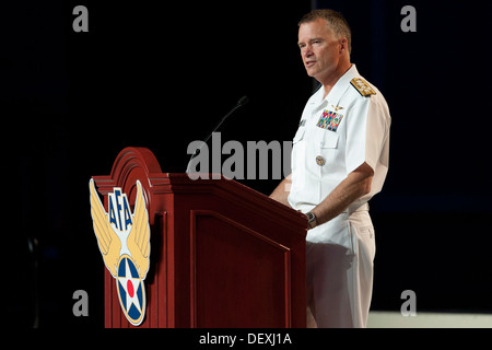 Adm. James A. Winnefeld Jr., vice chairman of the Joint Chiefs of Staff, addresses an audience during the Air Force - Stock Photo