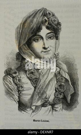 France, History, 19th Century, Empress Marie Louise of France, Archduchess of Austria German: Maria Ludovica Leopoldina - Stock Photo