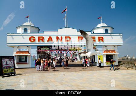 Grand Pier, Weston-Super-Mare, Somerset, England. - Stock Photo