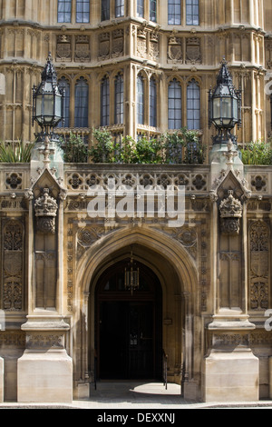 The Houses of Parliament City of Westminster London England - Stock Photo