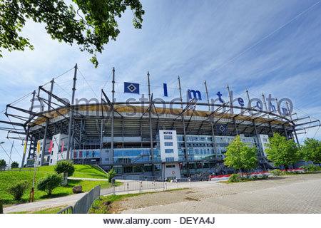 Imtech arena, home stadium HSV in stretcher field, Hamburg, Germany, Europe, Imtech Arena, HSV-Heimstadion in Bahrenfeld, - Stock Photo