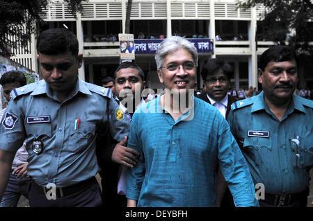 Dhaka, Bangladesh. 25th Sep, 2013. The Cyber Crimes Tribunal denied bail to Adilur Rahman Khan Shuvhro, secretary - Stock Photo