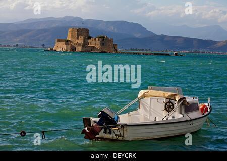 Fort Bourdzi  Nafplion  Argolis, Peloponnese  Greece - Stock Photo