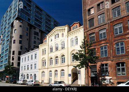 Office building and merchant's house on Schellerdamm in Harburg, Hamburg - Stock Photo