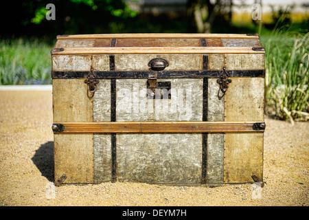 Treasure box on the area of the international horticultural show in Hamburg, Germany, Europe, Schatzkiste auf dem - Stock Photo