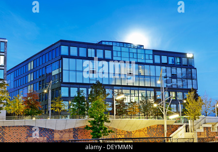 Headquarters of SAP in the Grosser Grasbrook street, the first office building that was built in the Hafencity district - Stock Photo