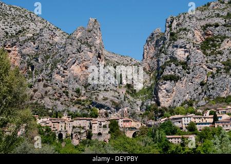 Moustiers Sainte Marie Alpes de Haute Provence France - Stock Photo