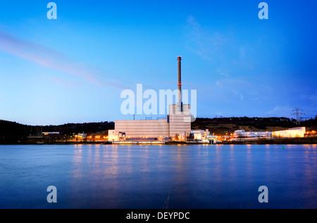 Kruemmel Nuclear Power Plant in Geesthacht, Schleswig-Holstein - Stock Photo