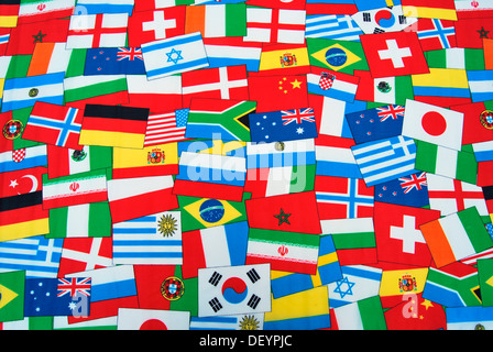 International flags, global, many - Stock Photo