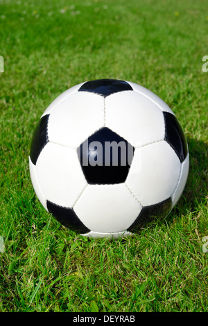 Black-and-white football, Schwarz-weißer Fußball - Stock Photo
