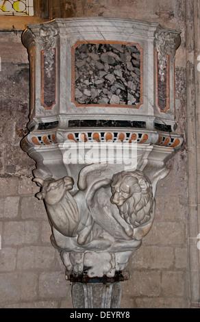 Cathedral of St Trophimus 12th Century Arles Place de la Republique France Provence Bouches du Rhone - Stock Photo