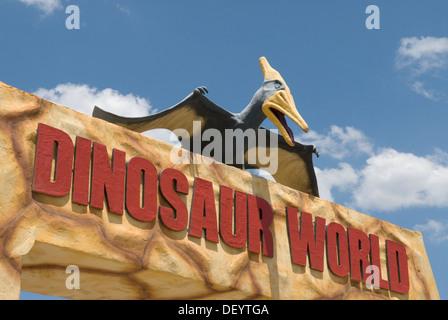 Dinosaur World Glen Rose Texas USA - Stock Photo