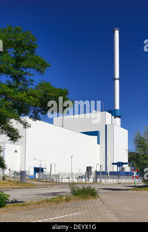 Switched off nuclear power plant Kruemmel in Geesthacht, Schleswig - Holstein, Germany, Europe, Abgeschaltetes Kernkraftwerk - Stock Photo