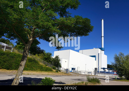 Switched off nuclear power plant Kruemmel in Geesthacht, Schleswig - Holstein, Germany, Europe, Abgeschaltetes Kernkraftwerk - Stock Photo