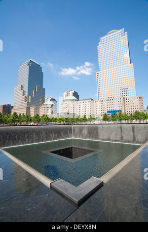 The North Pool Of The World Trade Center With Roses A Flag And A Stock Photo Royalty Free