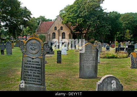Dutch Reformed Church Vlieland Grave Netherlands - Stock Photo