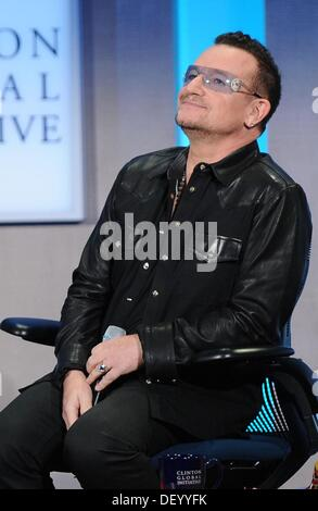 Bono in attendance for Clinton Global Initiative Annual Meeting - TUE, Sheraton New York Hotel and Towers, New York, - Stock Photo