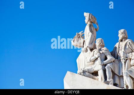 Padrão dos Descobrimentos, Monument to the Discoveries, celebrating Henri the Navigator and the Portuguese Age of - Stock Photo