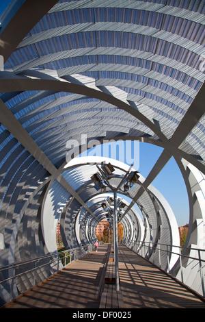 Puente Monumental de Arganzuela, in Madrid Rio, an ecological development, in Madrid, Spain, Europe - Stock Photo