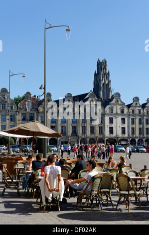 Place des Heros square, Arras, Pas-de-Calais, France, Europe - Stock Photo