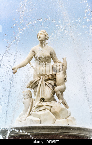 Latona Fountain in castle Herrenchiemsee in Bavaria, Germany - Stock Photo