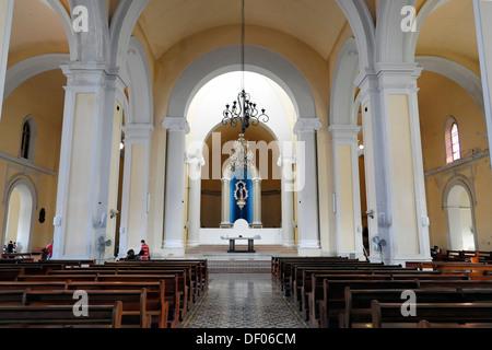 Interior, Cathedral of Granada, Granada, Nicaragua, Central America - Stock Photo