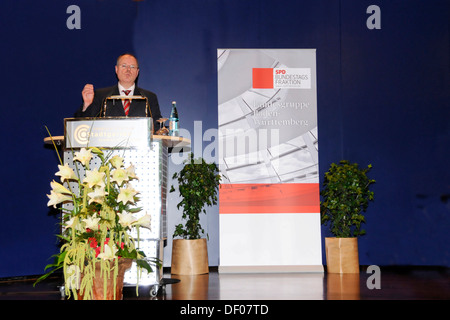 Peer Steinbrueck, Federal Minister of Finance, SPD, social democratic party - Stock Photo