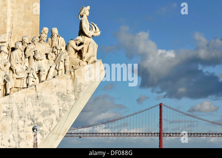 Padráo dos Descobrimentos, Monument to the Discoveries, monument with major Portuguese seafaring figures on the - Stock Photo