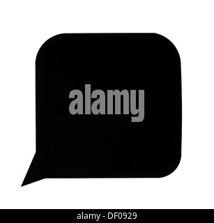 A black speech bubble with white around it - Stock Photo