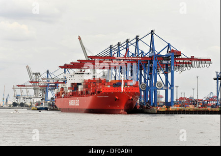 PARANAGUA EXPRESS, ship of the Hamburg Sued shipping company, container ship, 208 m long, built in 2005, Port of - Stock Photo