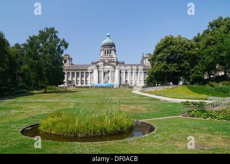 The Hanseatic Higher Regional Court on Sieveking-Platz square in Hamburg - Stock Photo