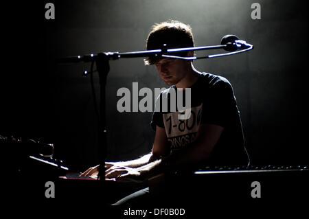 London, UK - 25 September 2013: James Blake performs at the O2 Shepherd's Bush Empire in London. James Blake (born - Stock Photo