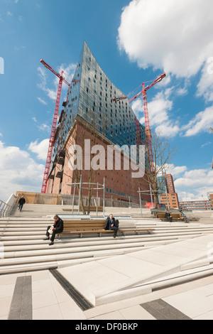 Elbe Philharmonic Hall in HafenCity, Hamburg, northern Germany, Europe - Stock Photo