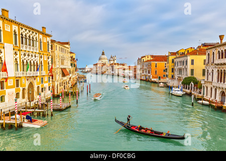 Gondola on Grand Canal - Stock Photo