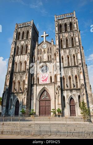 St. Joseph's Cathedral in Hanoi, Vietnam - Stock Photo