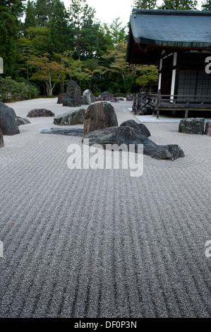 ... Buddhist Monastery And Rock Garden Koya San, Wakayama Prefecture, Japan    Stock Photo
