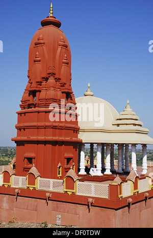 Lord Shiva temple near Akluj, Maharashtra, India - Stock Photo