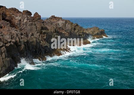 Paisaje volcánico Los Hervideros  Isla Lanzarote  Provincia Las Palmas  Islas Canarias  España - Stock Photo