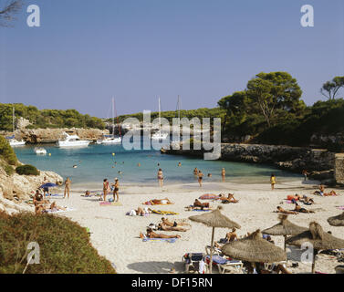 Cala Sa Nau, Mallorca, Balearic Islands, Spain - Stock Photo