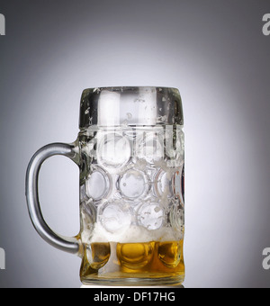 Hamburg, Germany, nearly empty beer glass - Stock Photo