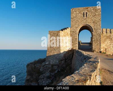 Medieval fortress on Cape Kaliakra, Black Sea, BulgariaKaliakra  is a long and narrow headland in the Southern Dobruja - Stock Photo
