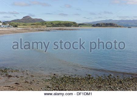 Criccieth beach, Gwynedd, Wales, UK - Stock Photo