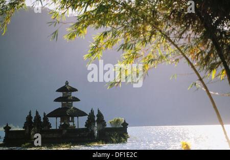 Ulun Danu Temple in Lake Baratan. Bedugul. Bali, Indonesia - Stock Photo